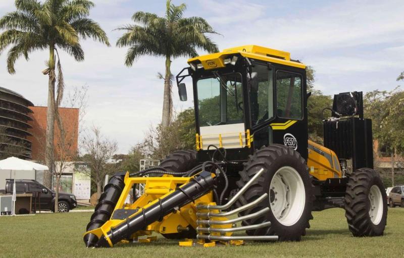 Máquina para colheita de cana de açucar